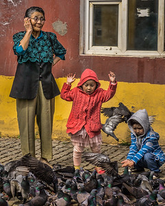 An uncropped version of the previous photo which I am including because of the interesting reaction of the grandmother.