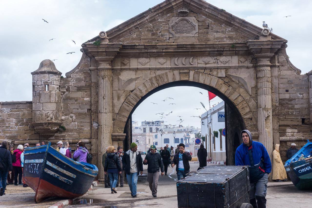 Lots of activity at the entrance to the medina