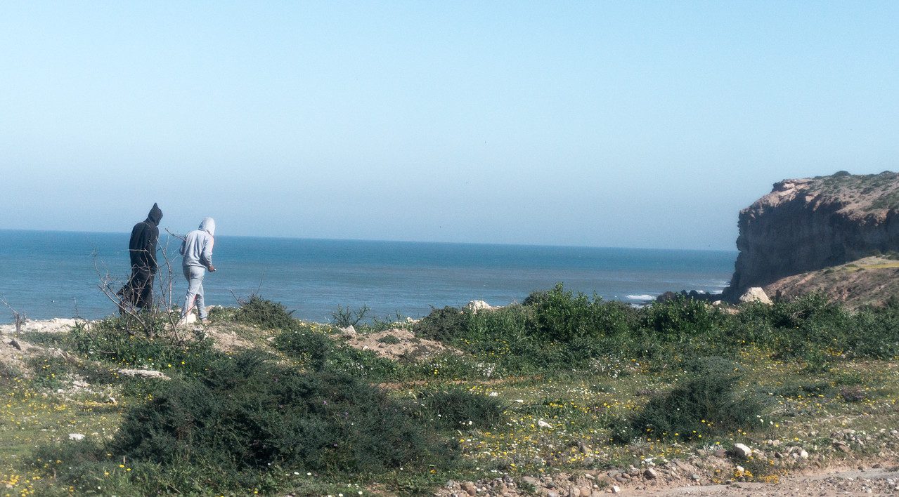 Quiet walk along the Atlantic coast of Morocco