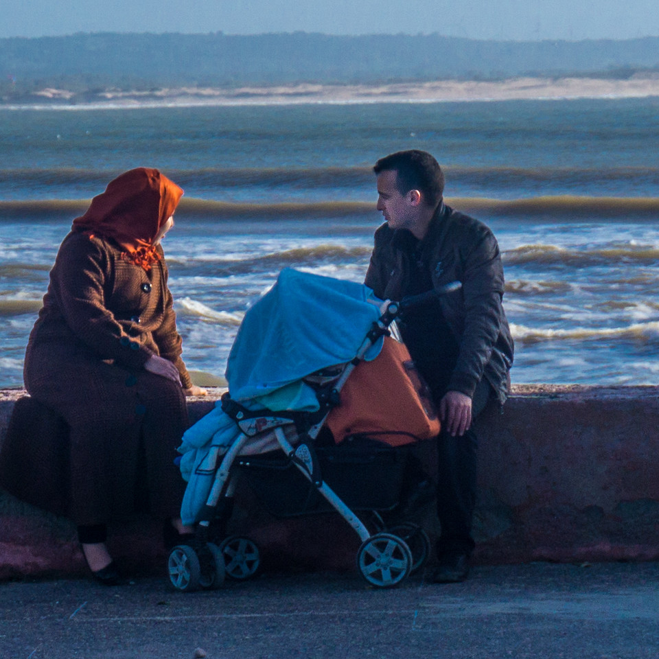 I wonder what they are thinking as they watch the sea just before sunset