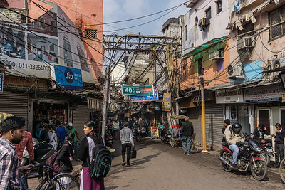 Old Delhi from our rickshaw ride
