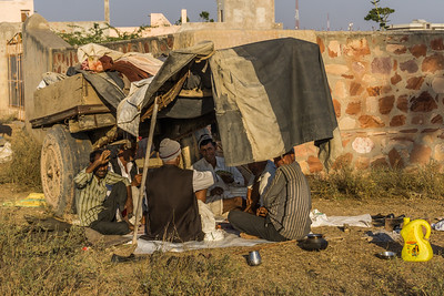 Gypsies who came to Nagaur for the festival.