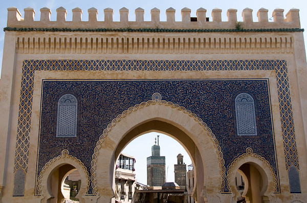 The gate to the medina in Fes.