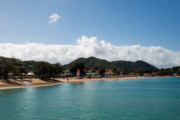 Rodney Bay, north end of St. Lucia. On the Caribbean side.