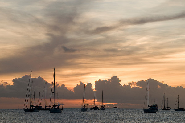 Sunset in Rodney Bay.