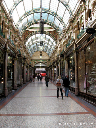 County Arcade in the Victoria quarter of Leeds, Yorkshire, England. © Rob Huntley