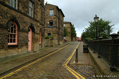 Typical street scene in the town of Saltaire, England, near Leeds. HDR - high dynamic range image. © Rob Huntley Not for sale on this website but you may License this photo on Getty Images