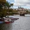 View over the Vltava River to Saint Vitus Cathedral