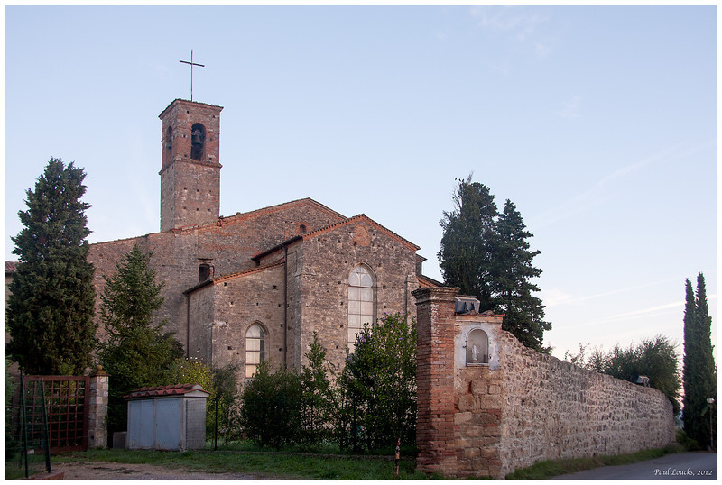 View of the church at San Lucchese.