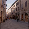 San Gimignano's main street. It's quite a climb to the top.