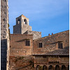 The medieval architecture of the perched village of San Gimignano.