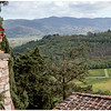 Corner of the upper terrace at Castello Vicchiomaggio.
