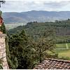 Corner of the upper terrace at Castello Vicchiomaggio.