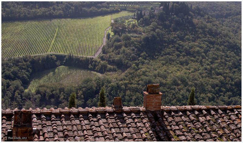 Overlooking the vinyards.