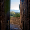 Doorway to the Tuscan countryside at San Gimignano.