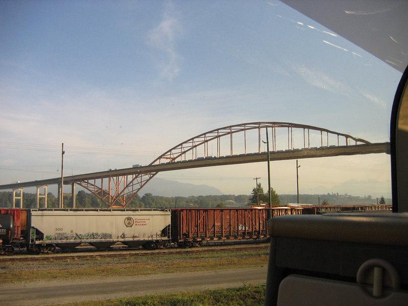 Travelling along CN's Thornton Yard.