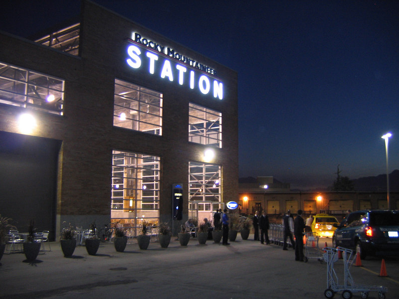 The station is lit up well enough. We did not beat everyone there, but we were earlier than most.