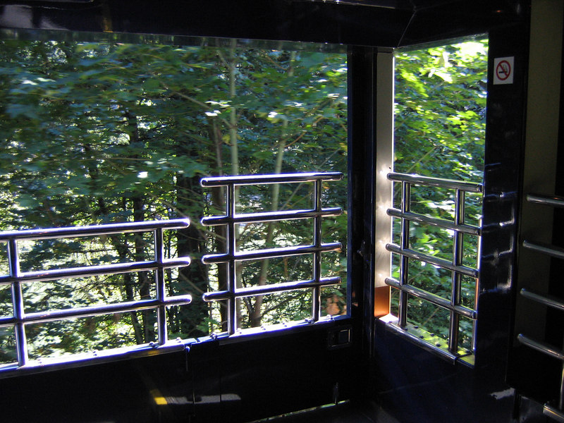 The outdoor observation platform. You can go here at all times except for the 5 mile tunnel.