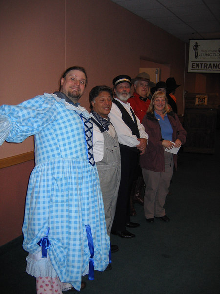 The cast from the the mid way musical at Kamloops.