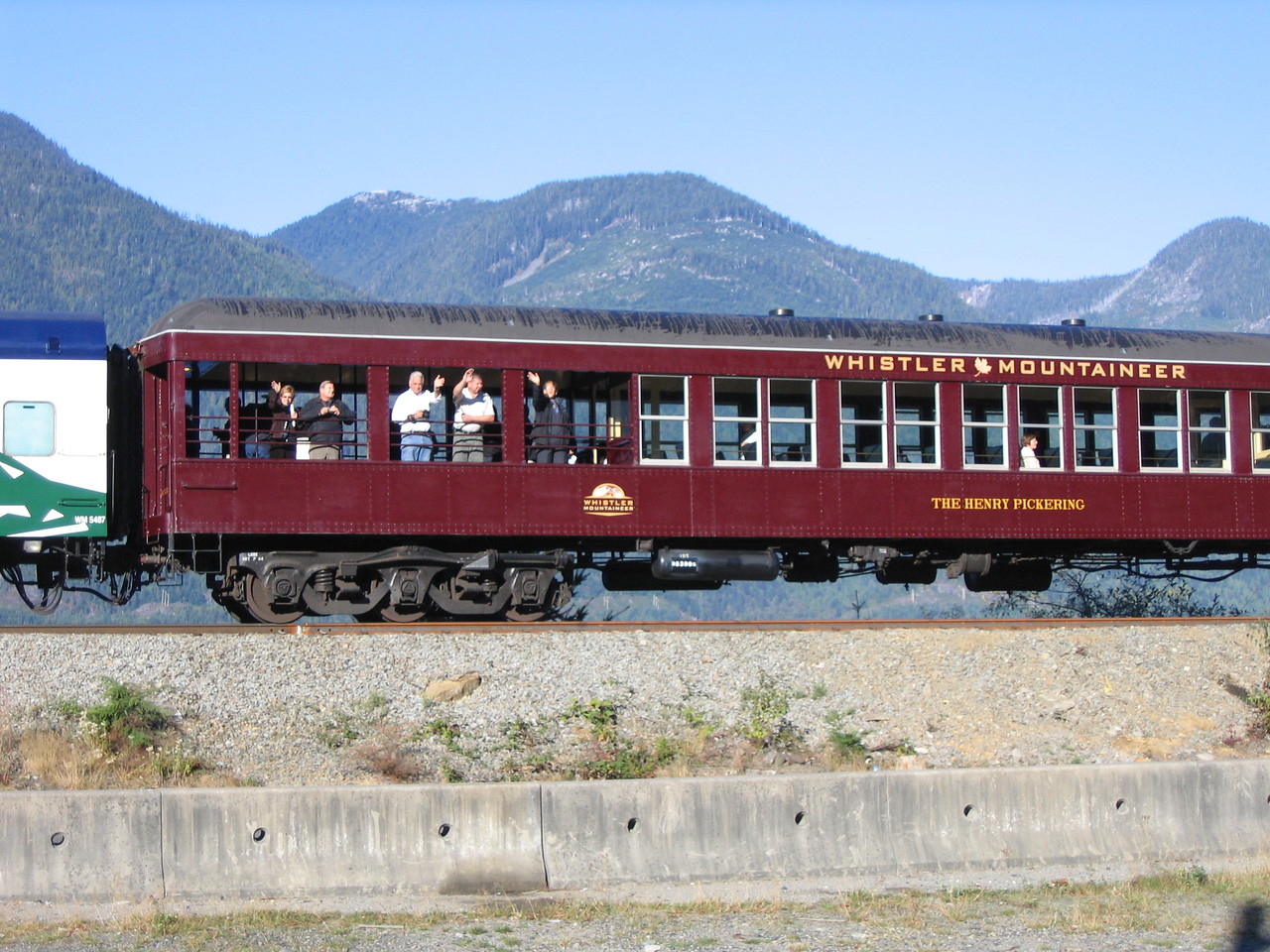 The Observation Car as it passes by.