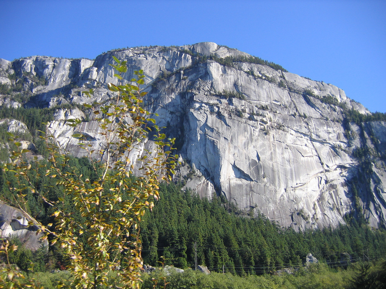 The Chief at Squamish. We saw a couple of folks climbing.