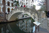 Riverwalk area bridge in San Antonio, Texas. January, 2013.
