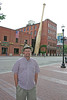 Louisville, Kentucky, early summer, 2001.  While in the area on business, stopped in to see the Louisville Slugger Baseball Bat Factory.  Most all of the major league wooden baseball bats are custom manufactured for each major league player right in this building.