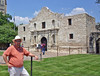 Me at (what's left of) The Alamo in San Antonio, TX.
