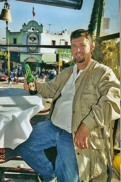 Rooftop bar in Tijuana, Mexico.  Christmas, 2002.  Feliz Navidad, mi amigos!