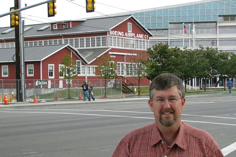 The Red Barn; the Seattle building in which it all began Boeing Aircraft Company.  Now a part of the Museum of Flight in Seattle at Boeing Field.<br /> <br /> Note to Museum management: removing that row of trees from in front of the Red Barn would sure allow for better photos....