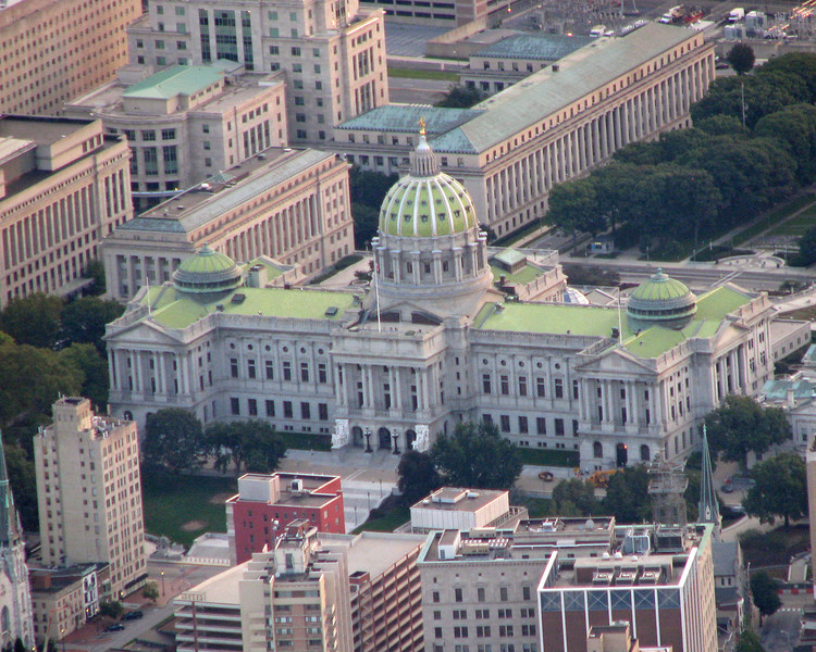 Pennsylvania statehouse in Harrisburg, PA.