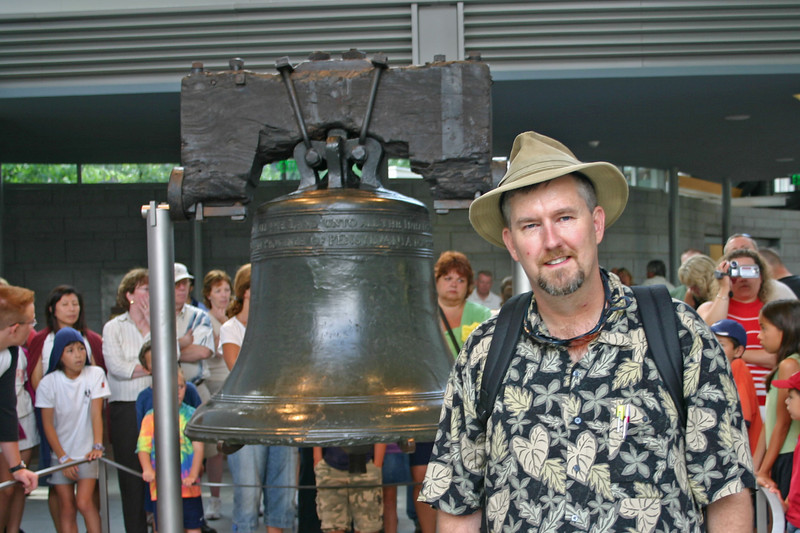 Me in front of the Liberty Bell in Philadelphia.  What an icon of American independence!