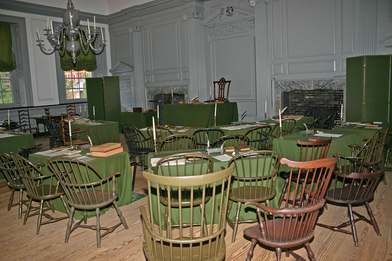Independence Hall.  WOW!  When I think of who and what that room had seen....  Wow!