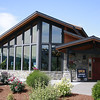 A little farther up the mountain I stopped by a Facebook connection - Mt. Hood Winery. The beautiful two-year-old tasting room is stunning. We really liked their Pinot Noir and polished off a bottle Wednesday night.