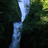 There are several water falls along the Gorge drive. This is a shot of Bridal Falls - perhaps 100 feet tall or so.