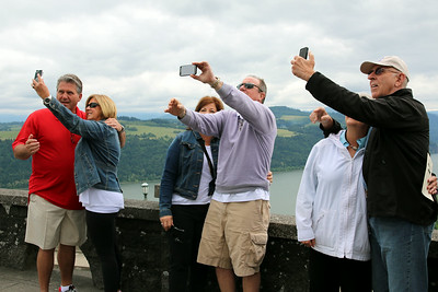 Perhaps one of my favorite shots of the trip. I saw one couple about to take a selfie .... zoomed out and caught this classic!