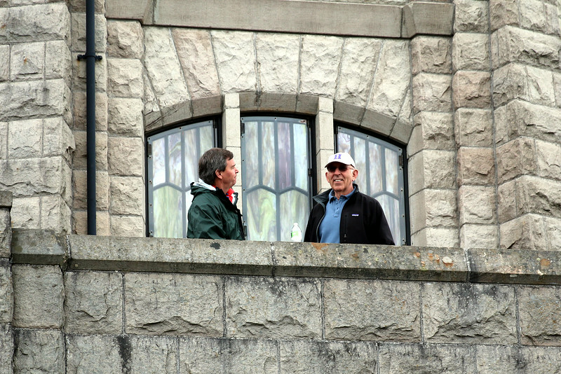 Jim and Bob at Crown Point, Columbia River Gorge, enjoying the view