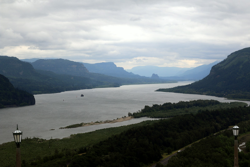 After two days of tasting, it was time for a change! Our wine tour group headed to the stunning Columbia River Gorge. This view is from Crown Point.
