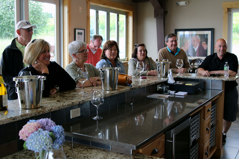Our final stop of our Friday and the tour was the private Hawk's View Cellars - closest to Portland of our trip. It was a recommendation by our driver Jeff, far right, that proved to be a real favorite.