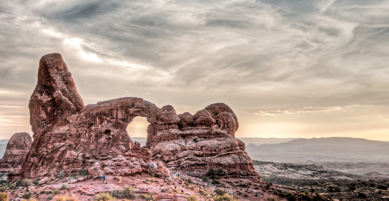 • Location - Arches National Park<br /> • Turret Arch at early evening