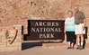 • Location - Arches National Park<br /> • A photo of Sandy and Arnold at the entrance to the Arches National Park