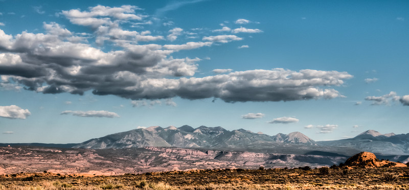• Location - Arches National Park<br /> •  Looking towards La Sal Mountain Range from National Arches