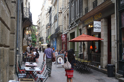Anyone who has seen my previous European photos knows I love sides streets. That's where the locals eat and shop!