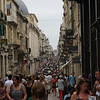 Bordeaux famous shopping area. This street is a mile long pedestrian walk way.