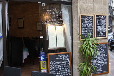 On those side streets you find dozens of little Brasseries or restaurants - most with a hand written menu and prices out front.