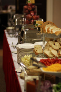 Bon Appetit, the caterer, really out did themselves for the event.
