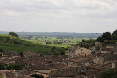 Love this view of the Bordeaux countryside taken from the main plaza near the monolithic church tower.