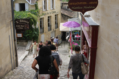 Down these rather steep stone steps to see the spot where Saint Emilion hid for 17 years.
