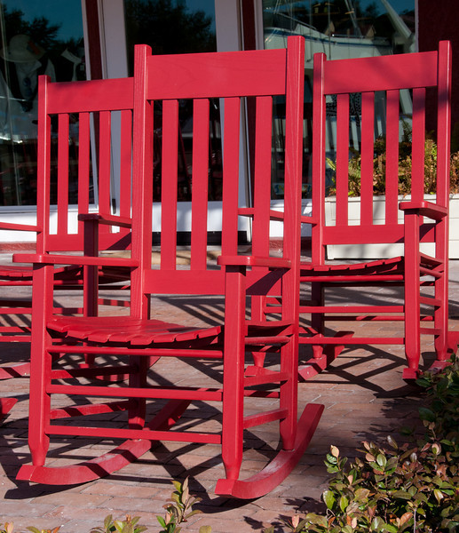 • Harbour Town<br /> • A trio of red rocking chairs