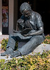 • Harbour Town<br /> • Metal Sculpture of guy having his lunch and reading a book.